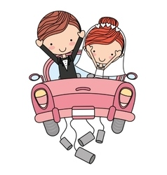Cute married couple isolated icon design vector