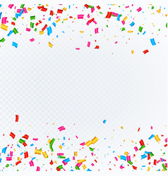 Abstract background with falling confetti vector