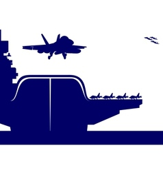 aircraft carrier vector image vector image