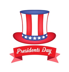 American presidents day celebration sticker or vector
