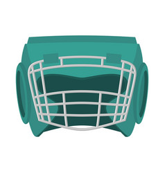 Boxing helmet green boxer mask isolated spor vector