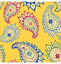 Bright seamless paisley pattern vector image vector image