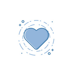 Business of blue colors heart vector