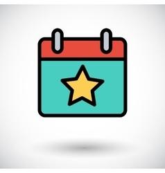 Calendar with star vector