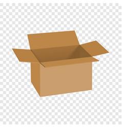 carton box mockup realistic style vector image vector image