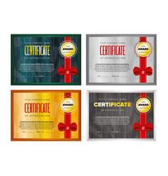 Certificate design set vector