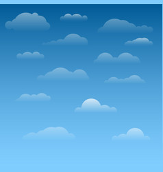Collection of clouds vector