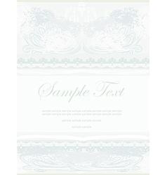 elegant abstract vintage frame invitation vector image vector image