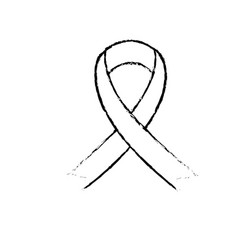 Figure women breast cancer symbol design vector