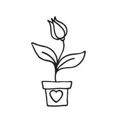 Flower pot icon vector