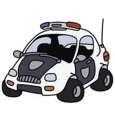 Funny police car vector image