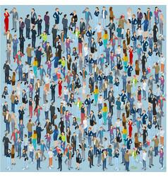 isometric people crowd vector image vector image