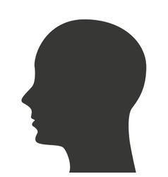 man head silhouette profile icon vector image