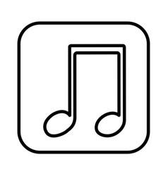 Monochrome contour square musical note vector