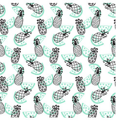 Pineapples seamless pattern vector