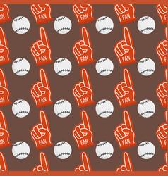 Seamless baseball balls pattern background vector