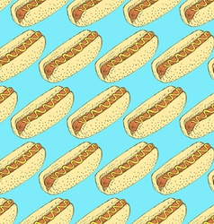Sketch hot dog in vintage style vector image vector image