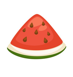slice of refreshing watermelon vector image vector image