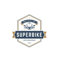 Sport motorcycle logo template design vector