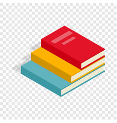 Stack of books isometric icon vector
