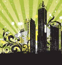 urban grunge city vector image