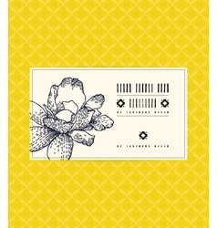 Vintage card with peony flower vector