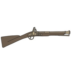 Vintage rifle vector