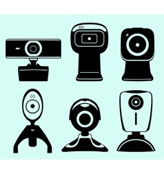 Web camera set vector image vector image
