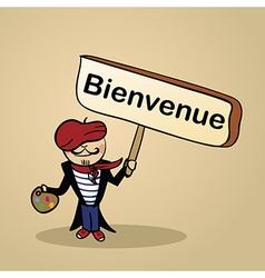 Welcome to france people sketch vector image vector image