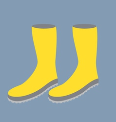 Yellow gum boots vector