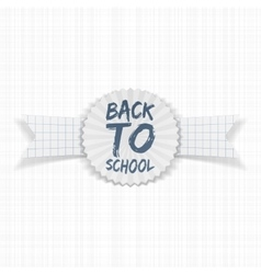 Back to school realistic emblem vector