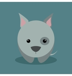 Cute cartoon dog vector