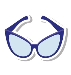 Glasses modern style isolated icon vector