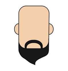 Colorful caricature image faceless front view bald vector