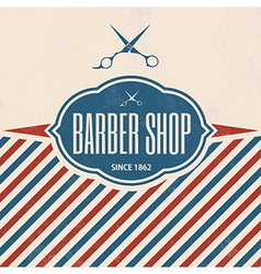 Retro Barber Shop Vintage Template vector image