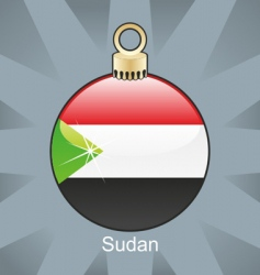 Sudan flag on bulb vector