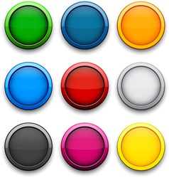 Round colorful icons vector