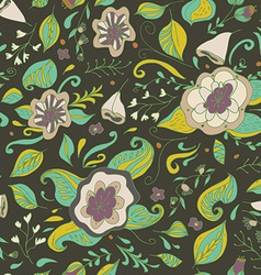 Abstract elegance seamless floral pattern on a vector