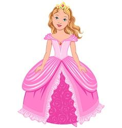 princess girl vector image