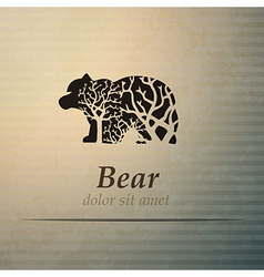 Bear logo design template vector