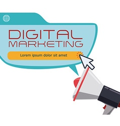 Digital marketing design vector