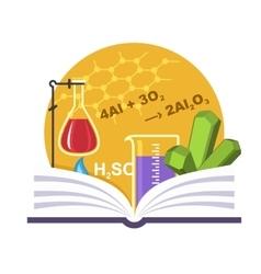 Chemistry emblem vector