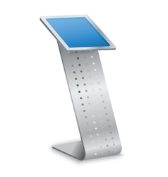 Interactive information kiosk terminal stand vector