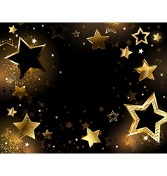 Black background with gold stars vector