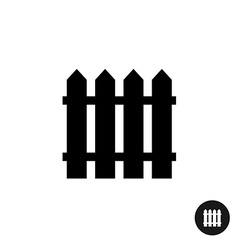 Fence icon simple black silhouette one piece style vector