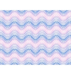 Pink trendy colors dotted mosaic waves seamless vector