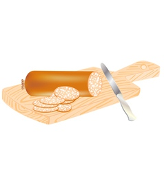 Cut sausage vector