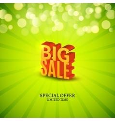 Big sale 3d letters poster promotional marketing vector