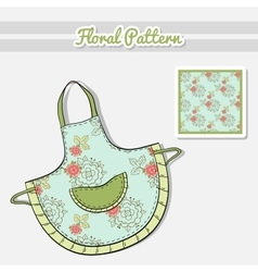 Apron roses on blue vector