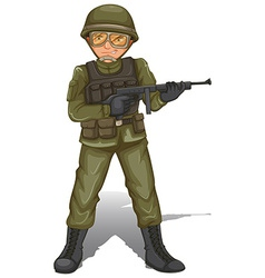A brave military soldier vector